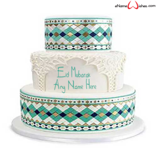 Colorful-Eid-Wish-Name-Cake