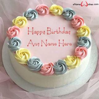 Colorful-Flowers-Birthday-Name-Wish-Cake