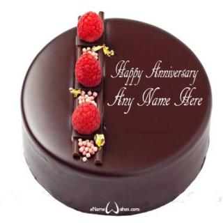 Cool-Chocolate-Anniversary-Name-Wish-Cake