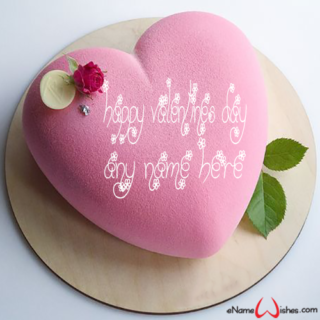 Cool-Heart-Valentines-Day-Wish-Name-Cake
