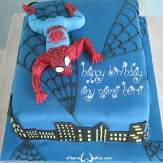 Cool-Spider-Man-Birthday-Wish-Name-Cake-for-Boy