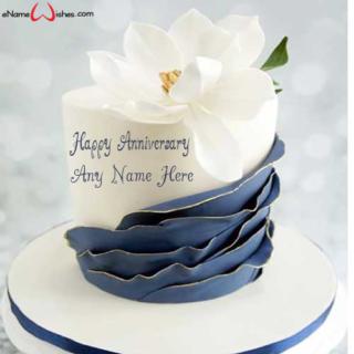 Cool-Wedding-Anniversary-Name-Wish-Cake