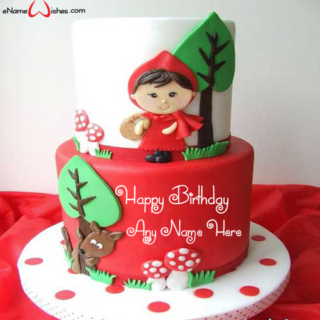 Creative-Red-Riding-Hood-Birthday-Name-Cake