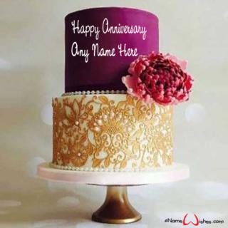 Creative-Wedding-Anniversay-Name-Wish-CakeCreative-Wedding-Anniversay-Name-Wish-Cake