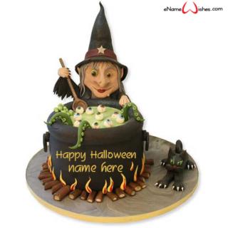 Creepy-Halloween-Cake-with-Name-Generator