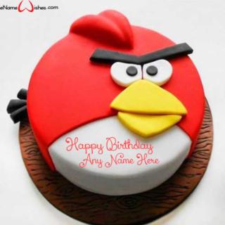 Cute-Angry-Bird-Birthday-Wish-Cake-with-Name