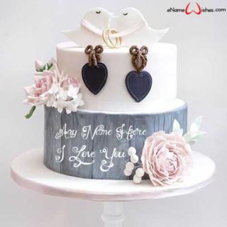 Cute-Birds-Love-Wish-Name-Cake