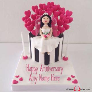 Cute-Bride-Wedding-Wish-Name-Cake