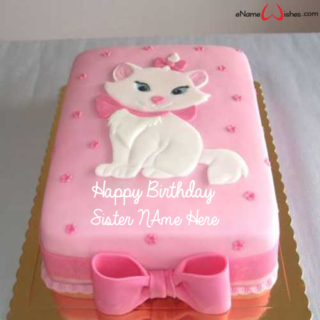 Cute-Cat-Birthday-Name-Wish-Cake-for-Sister