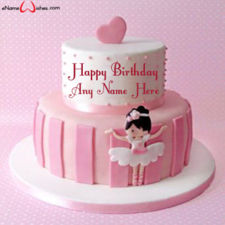 Cute-Doll-Birthday-Name-Cake