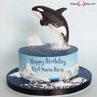 Cute-Dolphin-Birthday-Name-Cake