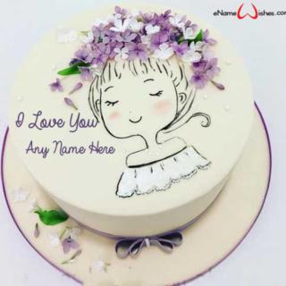 Cute-Girl-Love-Name-Wish-Cake