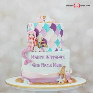 Cute-Mermaid-Birthday-Cake-with-Name