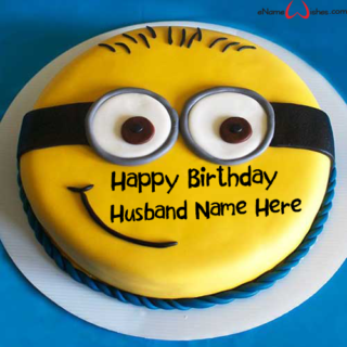 Cute-Minion-Birthday-Name-Cake-for-Husband