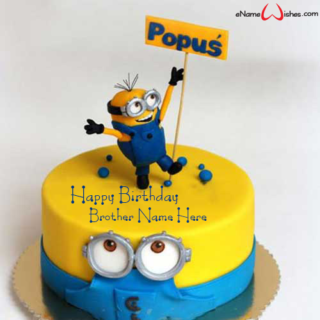 Cute-Minion-Birthday-Name-Wish-Cake-for-Brother