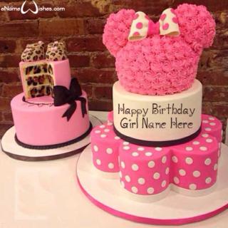Cute-Minnie-Mouse-Name-Wish-Cake