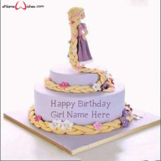Cute-Rapunzel-Birthday-Wish-Name-Cake-for-Girls