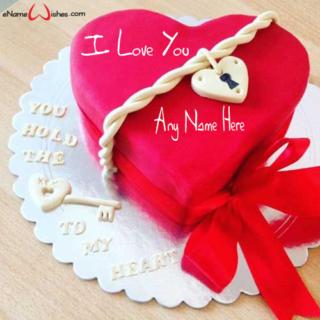 Cute-Red-Velvet-Love-Wish-Name-Cake
