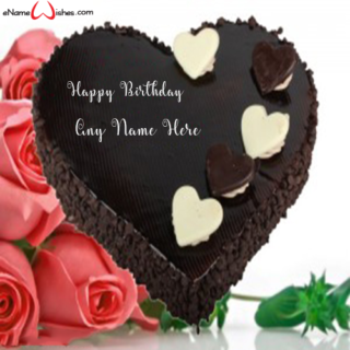 Dark-Chocolate-Heart-Birthday-Name-Cake-for-Boy