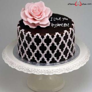 Dark-Chocolate-Love-Wish-Name-Cake