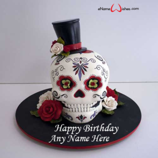 Day-of-the-Dead-Birthday-Name-Cake