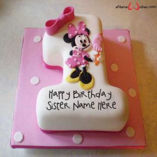 Decorated-1st-Birthday-Name-Cake
