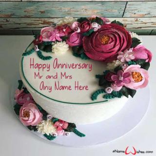 Decorated-Buttercream-Wedding-Name-Cake