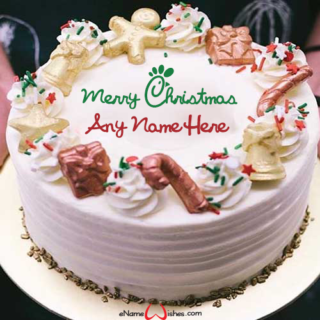 Decorated-Christmas-Name-Wish-Cake