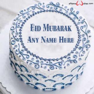 Decorated-Eid-Wish-Name-Cake