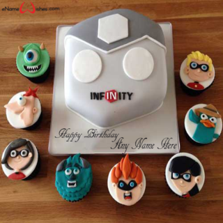 Disney-Infinity-Birthday-Name-Cake