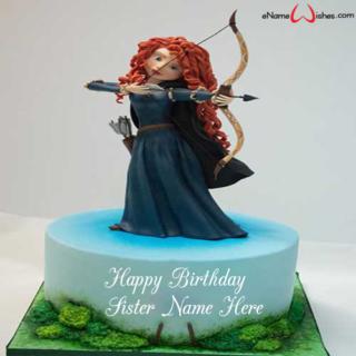 Disney-brave-birthday-name-cake