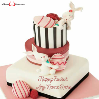 Easter-Bunny-Cream-Wish-Name-Cake