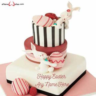 Easter-Bunny-Cream-Wish-Name-Cake