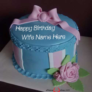 Elegant-Birthday-Cake-With-Name-for-Wife