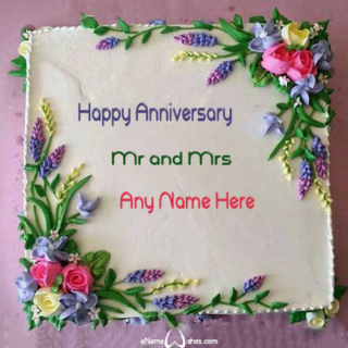 Elegant-Floral-Anniversary-Name-Wish-Cake
