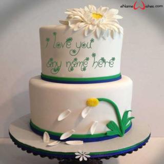 Elegant-Flowers-Love-Wish-Name-Cake