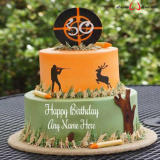 Elegant-Hunting-Birthday-Cake-with-Name