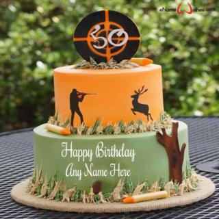 Elegant-Hunting-Birthday-Cake-with-Name