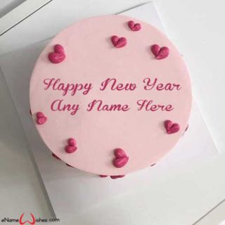 Elegant-New-Year-Wish-Cake-with-Name