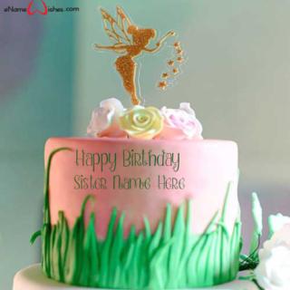 Fairy-Themed-Birthday-Wish-Name-Cake