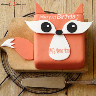 Festive-Fox-Birthday-Name-Cake