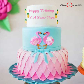 Flamingos-Party-Birthday-Name-Cake
