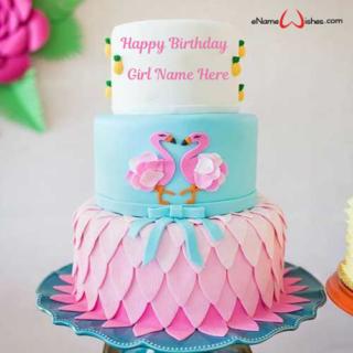 Flamingos-Party-Birthday-Name-Cake