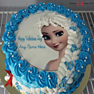 Frozen-Valentines-Day-Wish-Cake-with-Name