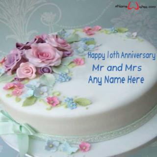Happy-10th-Wedding-Anniversary-Wish-Name-Cake