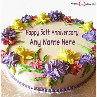 Happy-50th-Wedding-Anniversary-Wish-Cake-with-NameHappy-50th-Wedding-Anniversary-Wish-Cake-with-Name