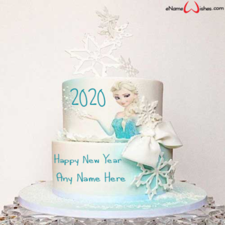 Happy-New-Year-2020-Frozen-Wish-Cake-with-Name