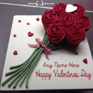 Happy-Valentines-Day-Roses-Name-Cupcake