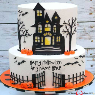 Haunted-House-Halloween-Wish-Name-Cake