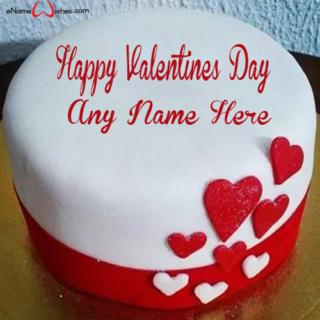 Heart-Shape-Valentine-Name-Wish-Cake